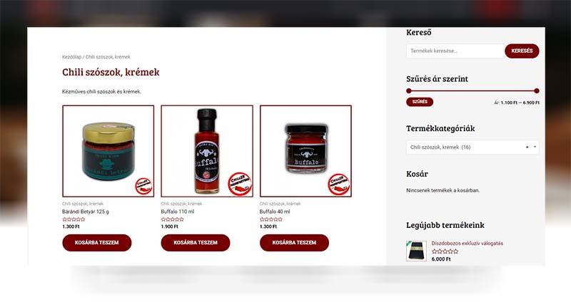 Chili webshop